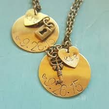 customizable necklace customizable necklace set with lock and key charms