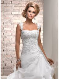 cap sleeve wedding dress gown strapless chapel white lace vintage wedding
