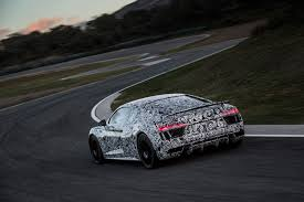 first audi r8 second gen audi r8 v10 plus prototype first ride motor trend