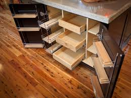 Kitchen Pull Out Cabinet by Custom Diy Pull Out Shelves For Kitchen Cabinet Made From Wood