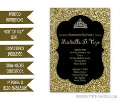 gold glitter sweet 16 invitation black and gold sweet 16
