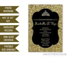elegant sweet 16 invitations gold glitter sweet 16 invitation black and gold sweet 16