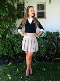 school 6th grade girl short skirt uniform styling tips looks fashion ivabellini