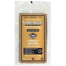 northwest naturals raw diet grain free turkey dinner bar raw