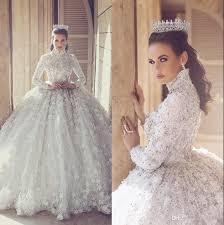 zuhair murad bridal discount 2017 zuhair murad sleeve wedding dresses 3d floral