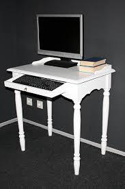 Schreibtisch Mit Computertisch Landhaus Schreibtisch Pc Tisch Weiß Lackiert Holz Massiv Bei Casa