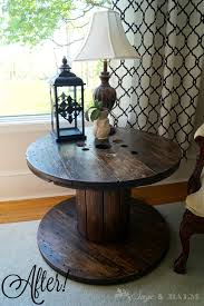 welcome to sage u0026 balm industrial chic u0026 rustic wooden spool table