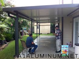 Home Depot Patio Covers Aluminum Aluminum Patio Cover With Fan Beams In Clear Lake A 1