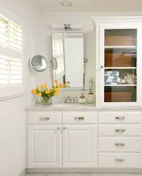 White Bathroom Linen Tower - helpful small bathroom tips add a linen tower if possible hide