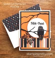 trick or treat owl halloween card stampin u0027 pretty