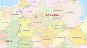 Manchester England Map by Digital Uk Simple County Administrative Map 5 000 000 Scale