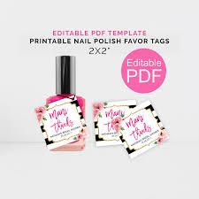 personalized mani thanks tags printable kate shower nail polish