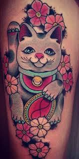 tattoo cat neko maneki neko tattoo asian themed tattoos pinterest maneki neko