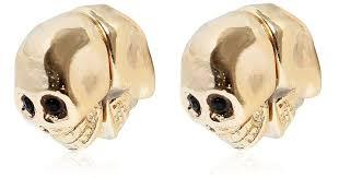 magnetic earrings lyst givenchy skull magnetic earrings in metallic