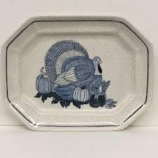 ceramic turkey platter studio potted ceramic turkey platter chairish