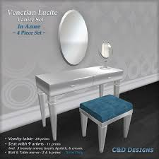 Lucite Vanity Table Second Life Marketplace C U0026d Designs Venetian Lucite Vanity