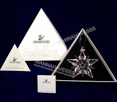 swarovski 2001 annual snowflake ornament new in box day 11 let