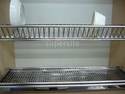 kitchen cabinet plate rack storage monsterlune