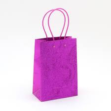 gift bags fuchsia glitter small gift bag