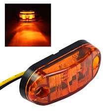 led side marker lights mengs 1pair 0 5w waterproof led side marker light for most buses