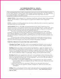 Examples In Essays Examples Of An Autobiographical Essay Biographical Narrative