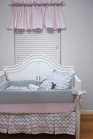 Pink And Gray Nursery Bedding Sets by Gray And Pink Chevron Crib Bedding Bonnybundle Com