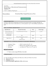 resume format downloads free resume templates microsoft word format in ms my 10