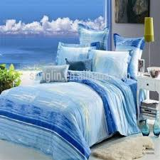 Customized Duvet Covers Sea Blue 133x72 3d Disperse Reactive Printing Duvet Cover