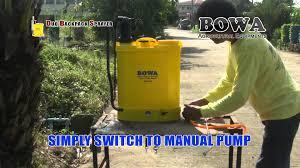 bowa duo backpack sprayer bps 160 manual u0026 electric backpack