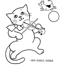 hey diddle diddle coloring page funycoloring