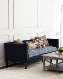 navy sofa neiman marcus