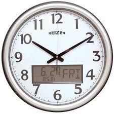 maxiaids low vision analog lcd wall clock calendar thermom