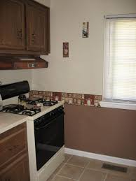 brown kitchen cabinets wall color painting kitchen cabinets back wall diy home improvement