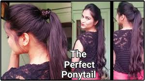 how to the perfect ponytail without teasing hairspray easy indian
