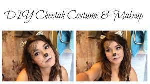 diy cheetah costume u0026 makeup youtube