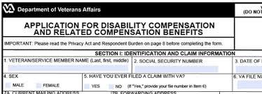 veterans compensation benefits claims