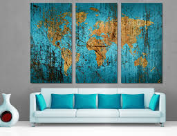Large World Map Canvas by Wall Decor World Wall Art Images Trendy Wall World Map Wall Art