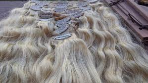 Long Blonde Wavy Hair Extensions by Cliphair Ltd Wavy Hair Extensions In Bleach Blonde Review Cat