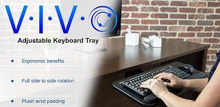 Mouse Platform Under Desk Amazon Com Vivo Adjustable Computer Keyboard U0026 Mouse Platform