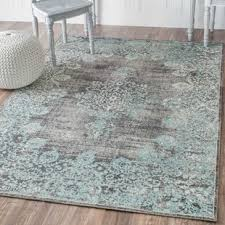 Aqua Area Rug Farmhouse Rugs Birch