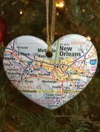 origami map ornament omega upcycled atlas gift for