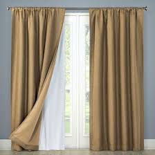 Eclipse Nursery Curtains Blackout Liner Pair Curtain Panel White 54