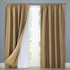 blackout liner pair curtain panel white 54