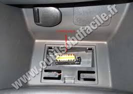 obd2 connector location in renault clio 4 2012 outils