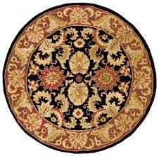 Round Burgundy Rug by Rug Cl244c Classic Area Rugs By Safavieh