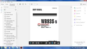 komatsu backhoe loader wb93s 5 shop manual auto repair manual