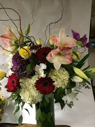 nyc flower delivery vase with amaryllis in new york ny fellan florist