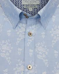 floral jacquard shirt blue t for tall ted baker love ted u0027s