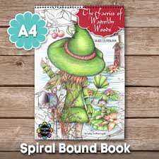 faeries waterlily woods fairy colouring book a4 spiral
