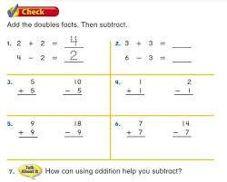 doubles fact doubles subtraction facts worksheets adding doubles small numbers a